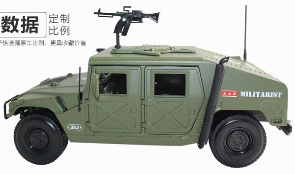 โมเดลรถ โมเดลรถเหล็ก โมเดลรถยนต์ รถสงคราม Hummer 5