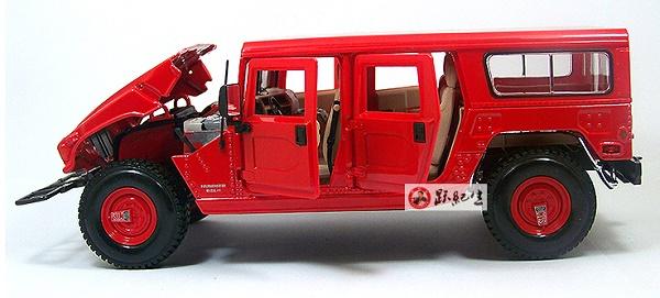 โมเดลรถ โมเดลรถเหล็ก โมเดลรถยนต์ Hummer H1 red 6