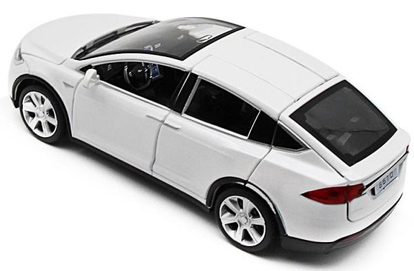 โมเดลรถเหล็ก โมเดลรถยนต์ Tesla Model X 2
