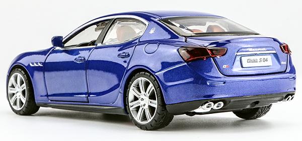 โมเดลรถเหล็ก โมเดลรถยนต์ Maserati Ghibil blue 2