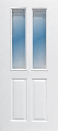 ประตู upvc รุ่น v-series บานกระจก PG005 ขนาด 70x200