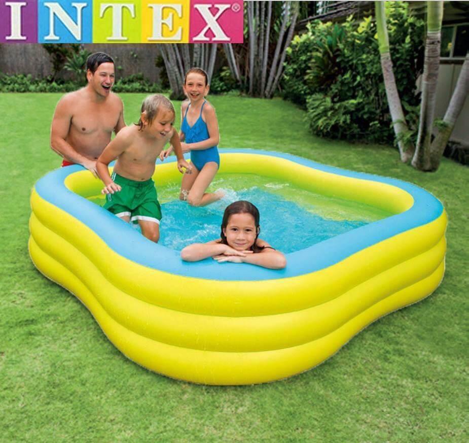 Intex สระน้ำเป่าลมสี่เหลี่ยม