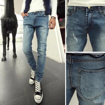 กางเกงผู้ชาย   กางเกงยีนส์ชาย กางเกงยีนส์ขายาว แฟชั่นเกาหลี