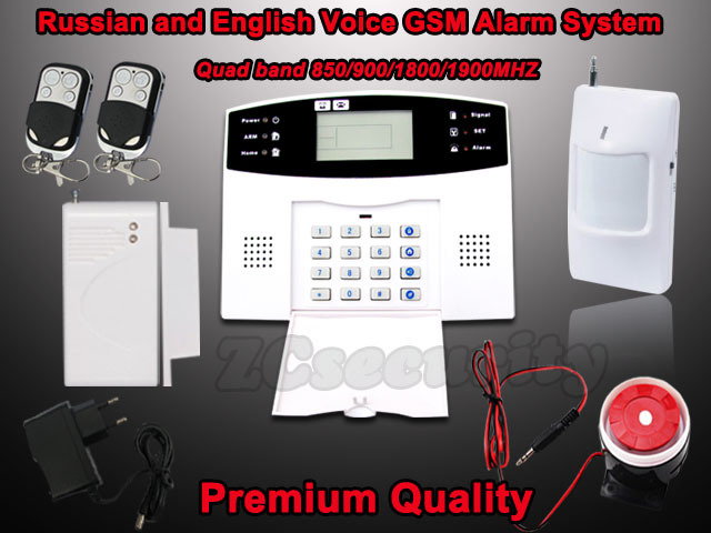 กันขโมยบ้าน GSM จอ LCD ( GSM Wireless Home Bugler Alarm Auto Dialer )
