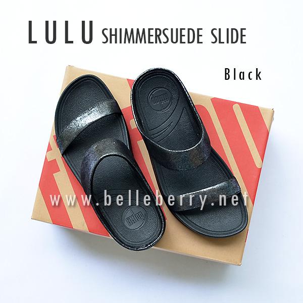 **พร้อมส่ง** FitFlop Lulu Shimmersuede Slide : Black : Size US 6 / EU 37