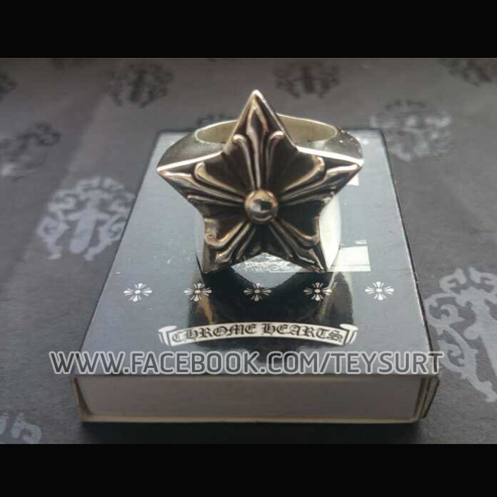 แหวนCHROME HEARTS STAR L RING 925 1:1[เทียบแท้]