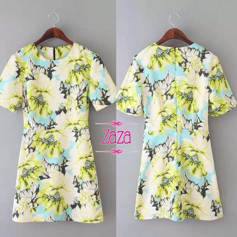 เสื้อผ้าเกาหลี พร้อมส่ง มินิเดรส Brand zara
