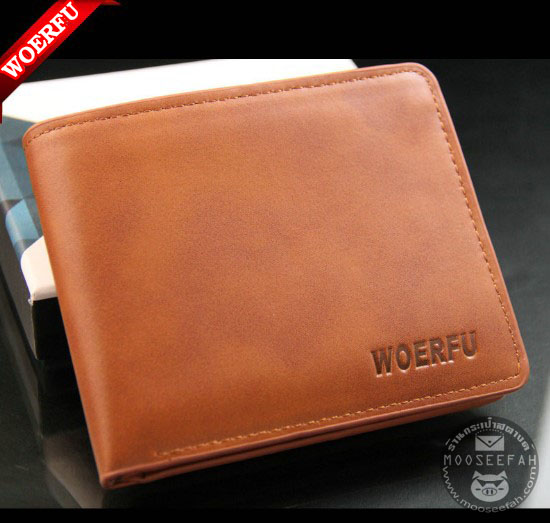 กระเป๋าสตางค์ผู้ชาย WF-001 [สีน้ำตาล]