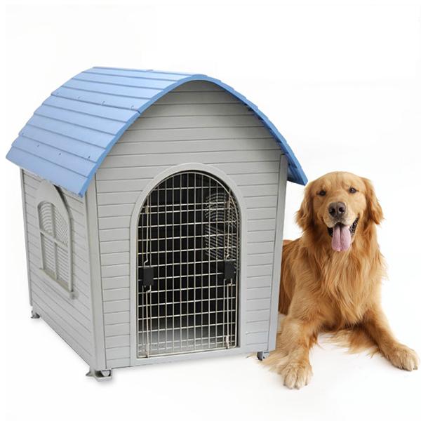 บ้านสัตว์เลี้ยง บ้านสุนัขพลาสติก สำหรับสุนัขขนาดกลางและขนาดใหญ่