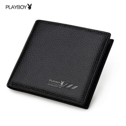 กระเป๋าสตางค์ผู้ชาย PL013 [สีดำ]