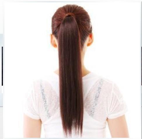 hair piece ทนความร้อนผมตรงเกาหลี (สีดำ)