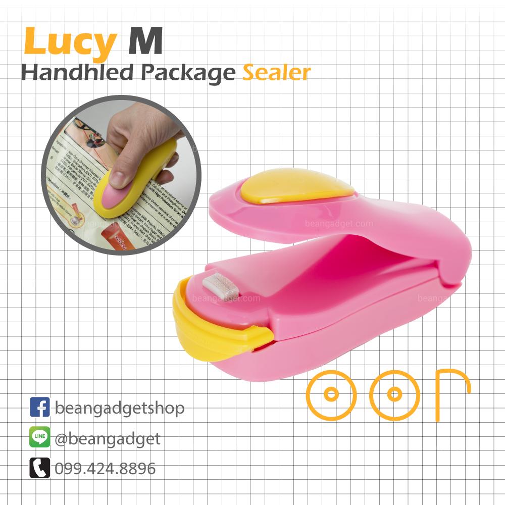 ซีลถุงแบบพกพา Lucy M mini portable handy plastic bag sealer OOP - Pink สีชมพู