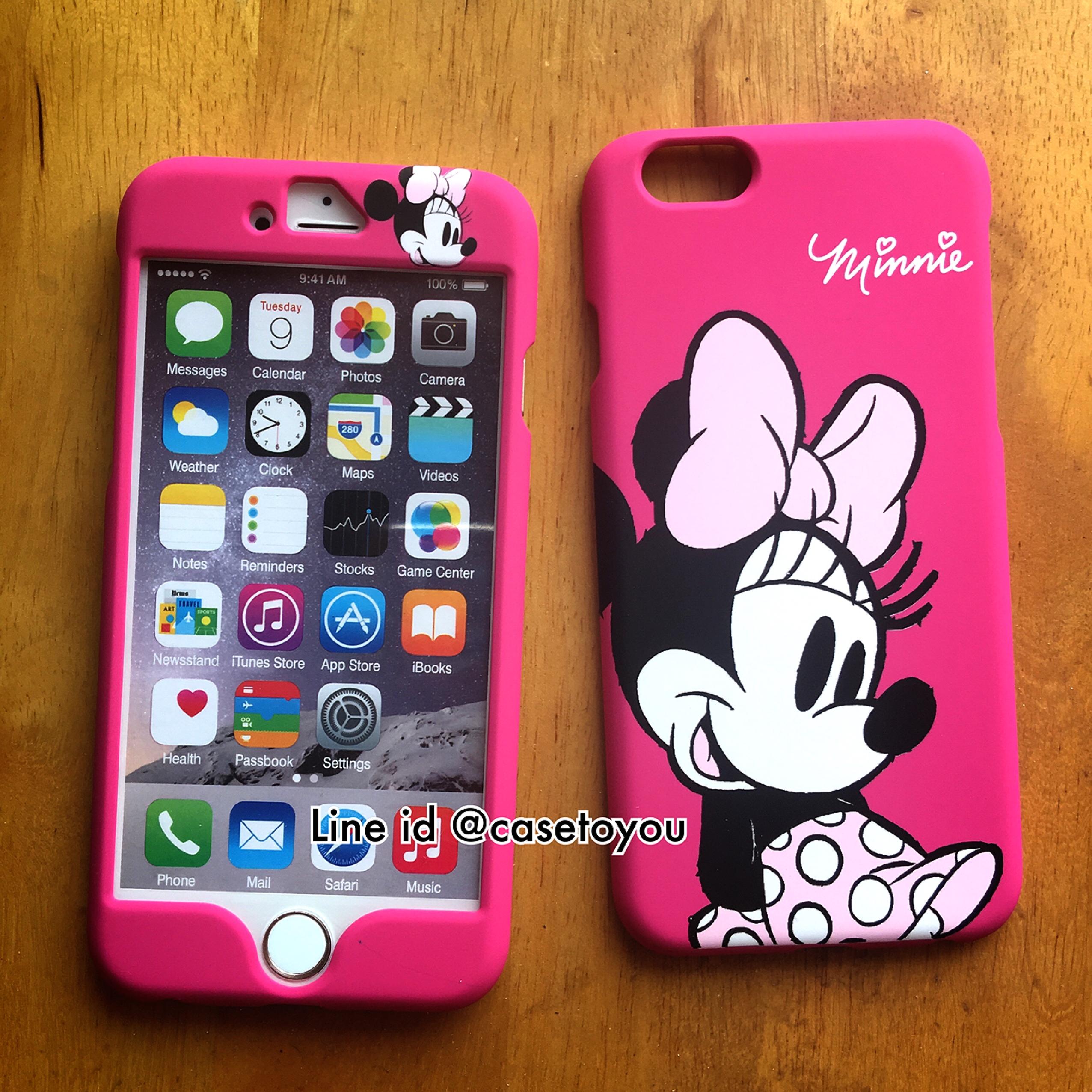 เคสประกบหน้า-หลัง Minnie Mouse iPhone 6/6S
