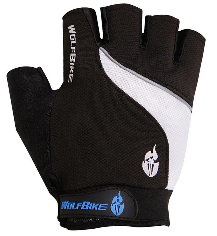 ถุงมือปั่นจักรยาน เจล WolfBike สีดำ