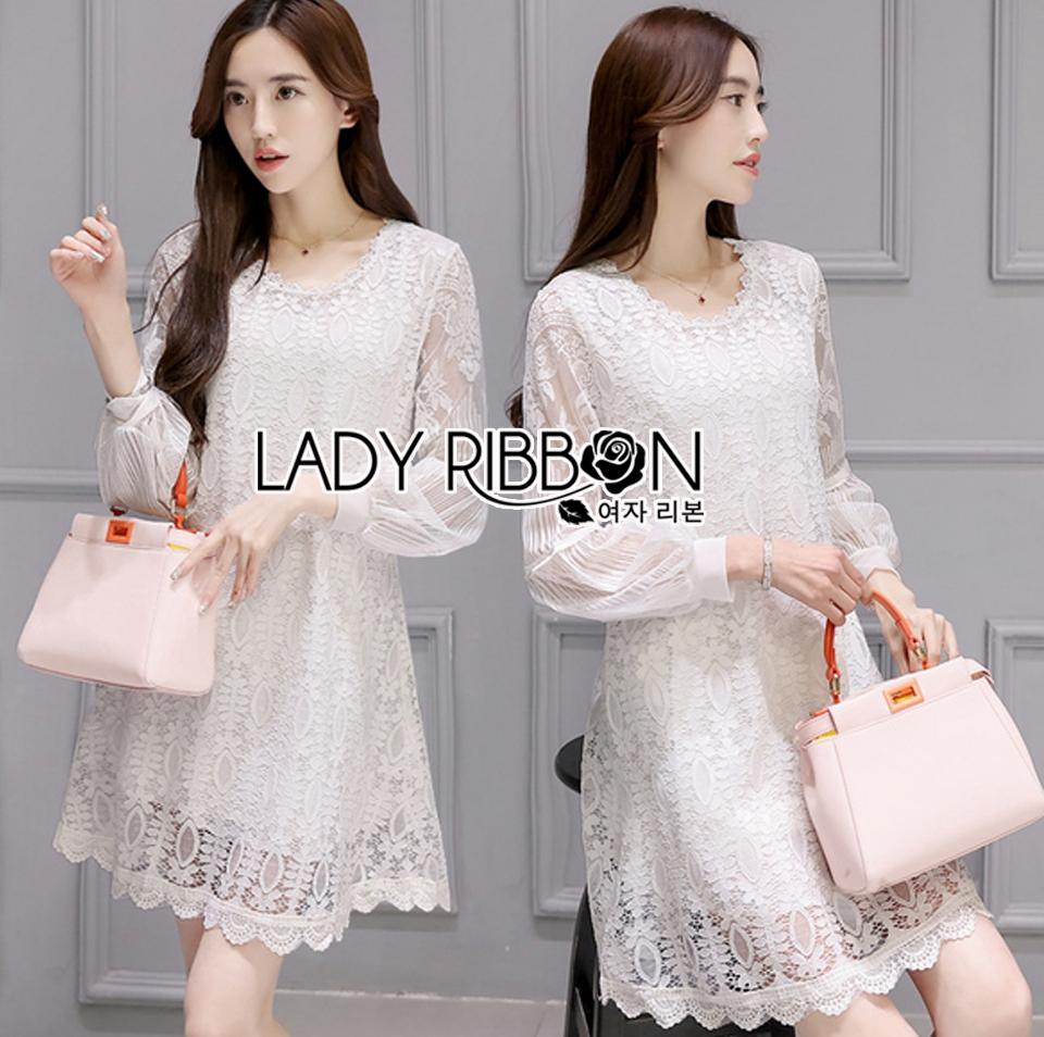 Lady Feona Classic Feminine Lace and Chiffon Dress L246-75C05