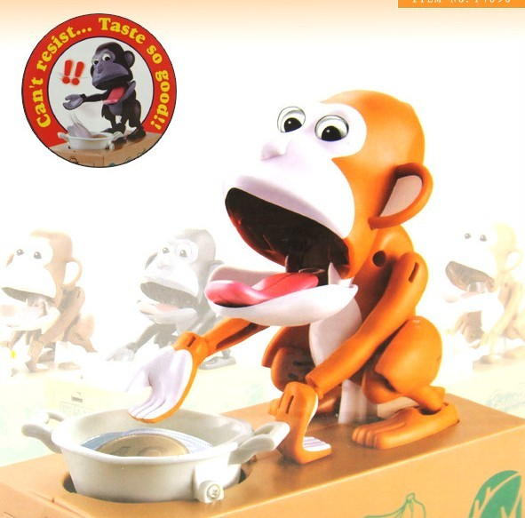 กระปุกออมสิน ลิงจ๋อ ขอเหรียญ