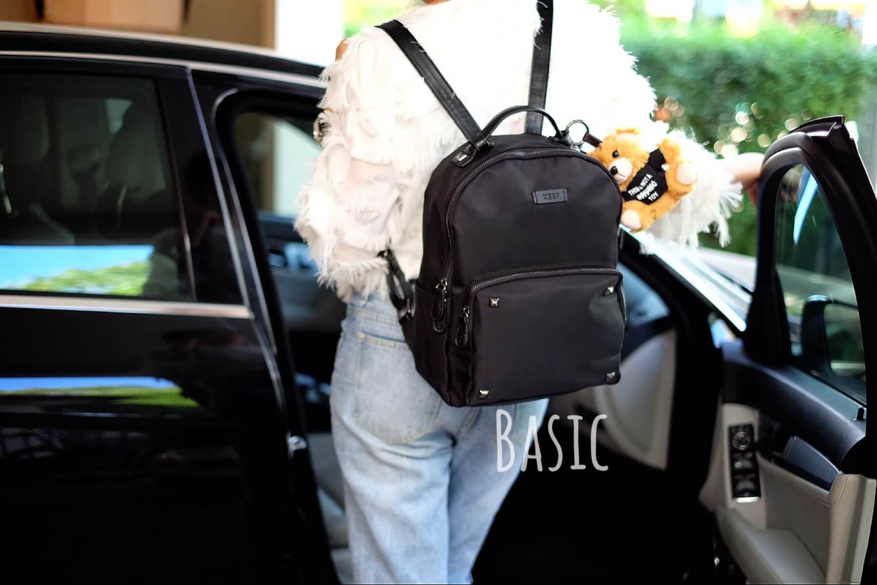 กระเป๋าเป้ไนล่อน แบรนด์ KEEP รุ่น Keep classic nylon backpack ขนาดเบสิกใส่ A4 ได้ค่ะ