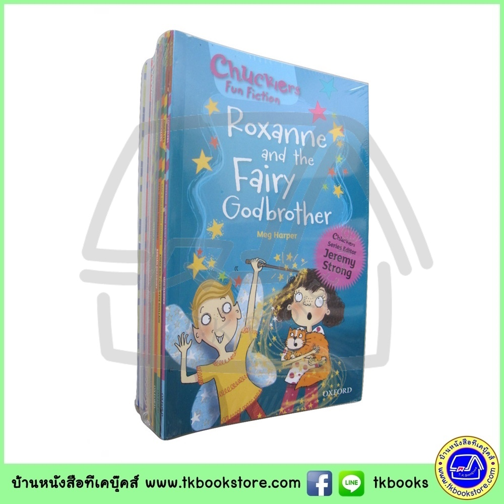 Jeremy Strong : Oxford Reading Tree Tops Chucklers Fun Fiction 14 Books Collection Level 8-14 เซตหนังสือส่งเสริมการอ่าน
