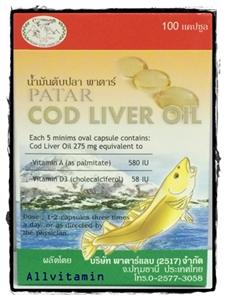 PATAR COD LIVER OIL 100 CAP