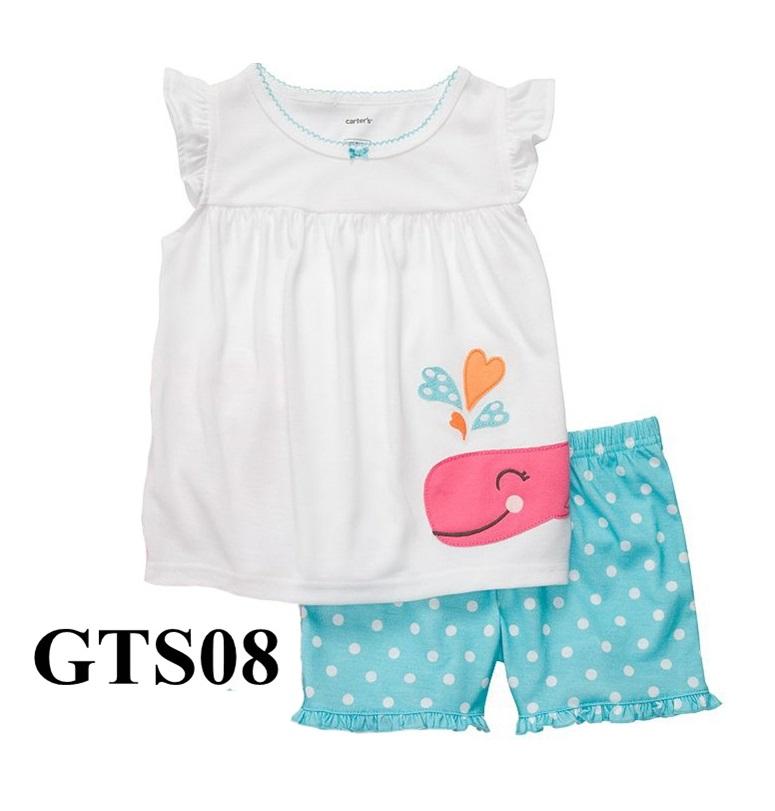 GTS08 เสื้อแขนสั้น+กางเกงขาสั้น Size 24M 3T ผ้า cotton หนา นิ่ม ยืดหยุ่น เนื้อผ้าดีมาก ใส่สบาย