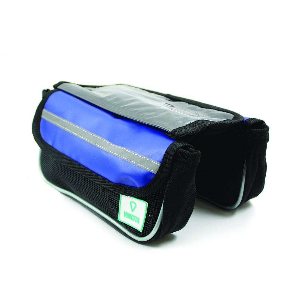 vincita B029TX กระเป๋าเบนโตะคู่ คาดเฟรมและสเต็ม สีน้ำเงิน