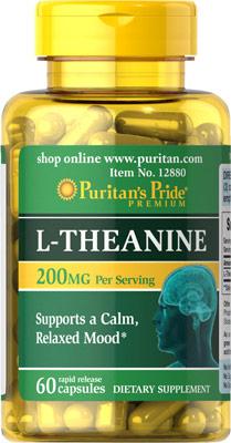 ช่วยผ่อนคลาย บำรุงสมอง L-Theanine 200 mg 60 Capsules