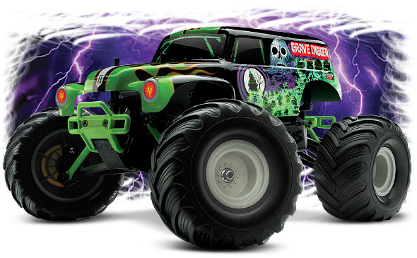 Monster Jam Excitement, Now in 1/16 Scale #7202A