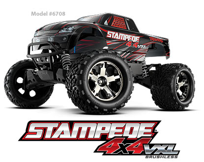 Stampede VXL 4X4 1/10 Scale Brushless High-Performance Monster Truck # 6708 6-1