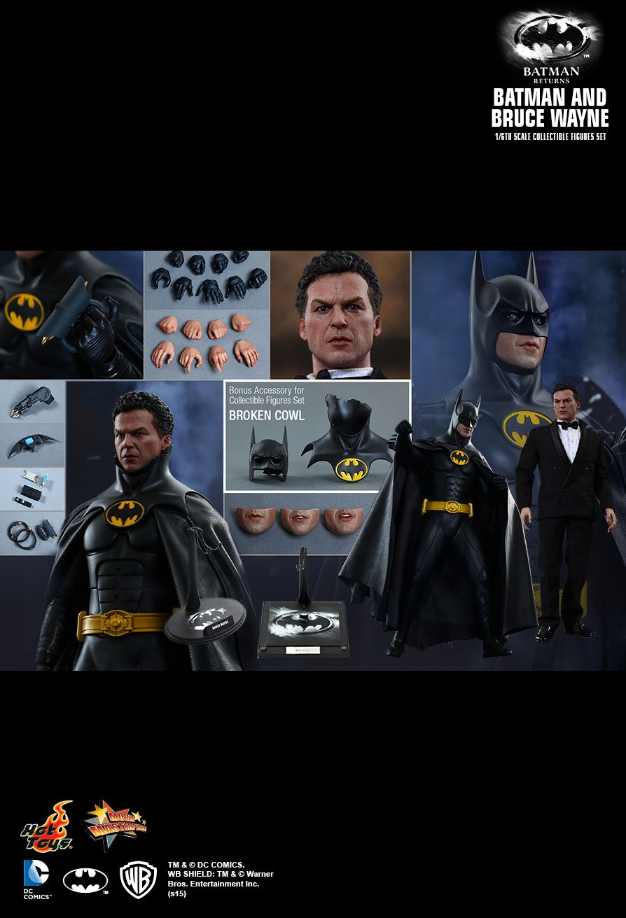 Hot Toys MMS294 BATMAN RETURNS BATMAN & BRUCE WAYNE