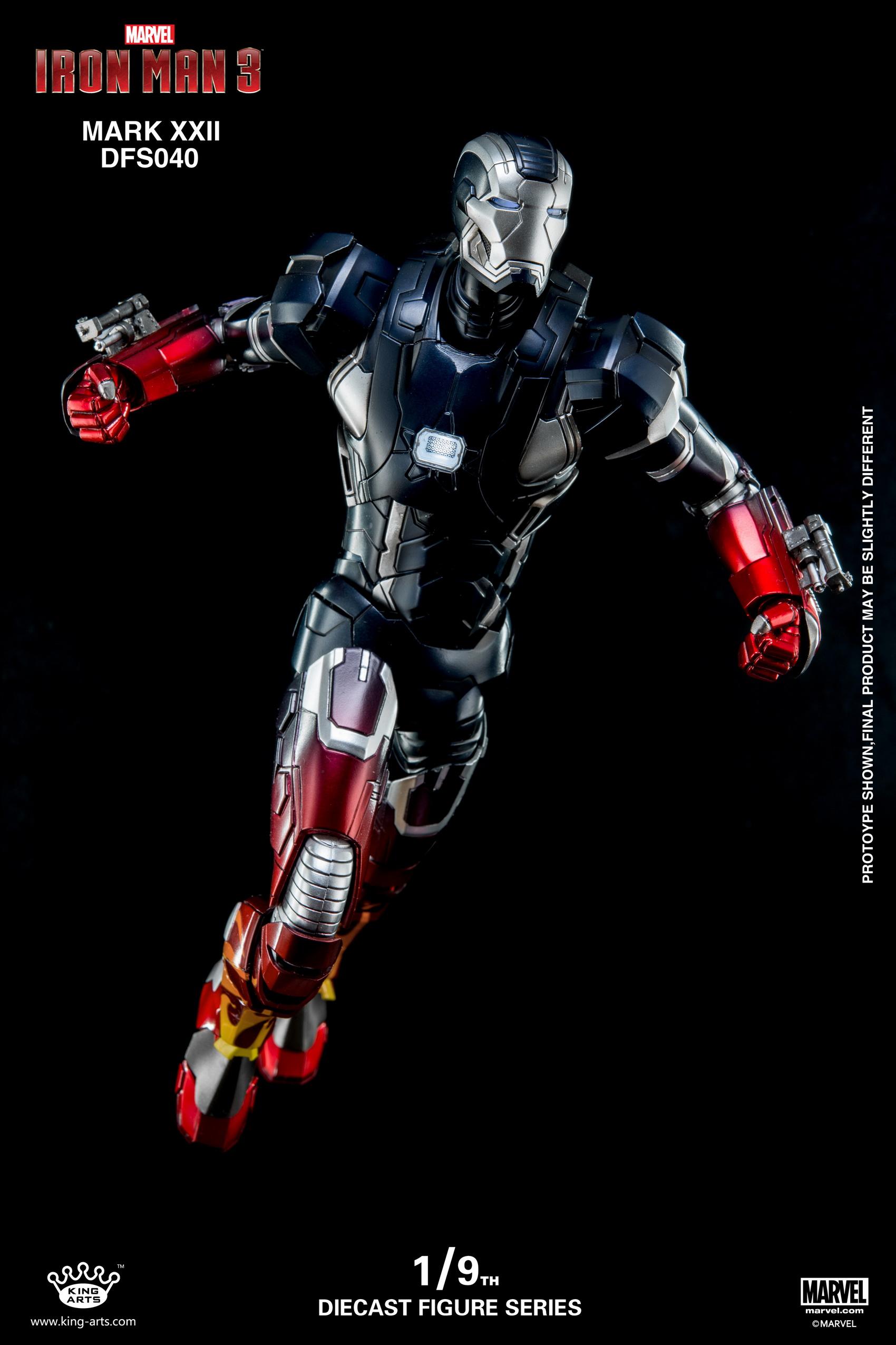 King Arts DFS040 1/9 MK22 Diecast Figure Series Diecast Action Iron MarkXXII (Hot Rod)