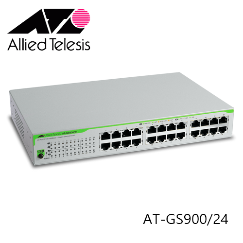 ALLIED TELESIS AT-GS900/24 10/100/1000T X 24 PORTS UNMANAGED SWITCH