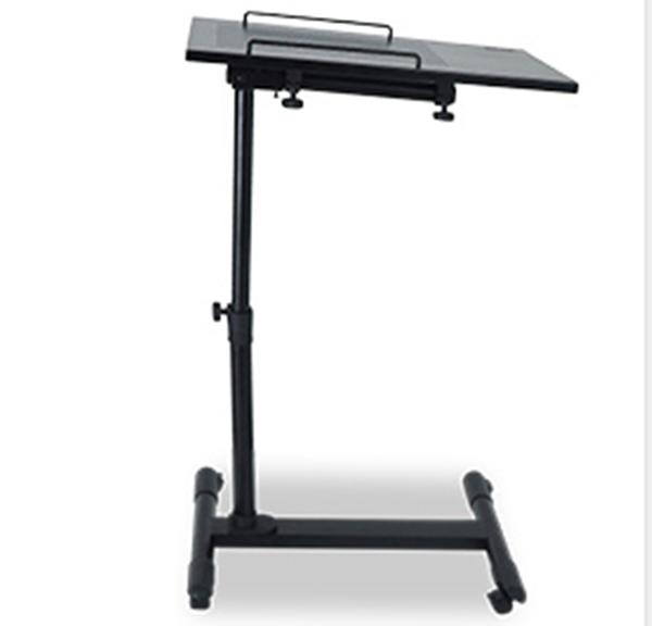 Pre-order โต๊ะวางแล็ปท้อป วางโน้ตบุ๊ค วางแท็บเล็ต วางมือถือ โต๊ะพรีเซนต์งาน ปรับระดับ ปรับองศา มีล้อเลื่อน สีดำ
