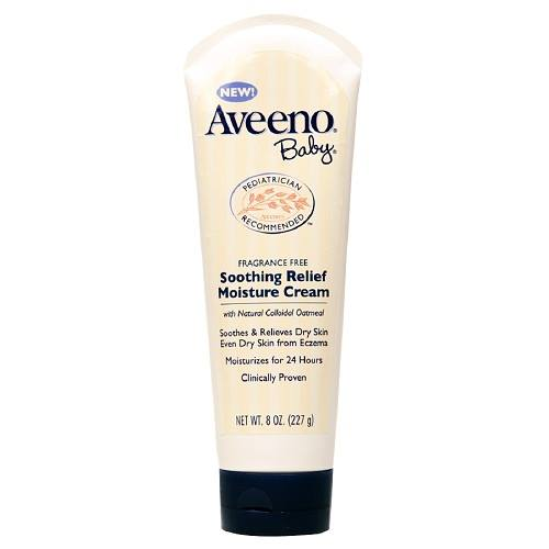 Aveeno Baby Soothing Relief Moisture Cream, Fragrance Free 8 fl oz (227 g)