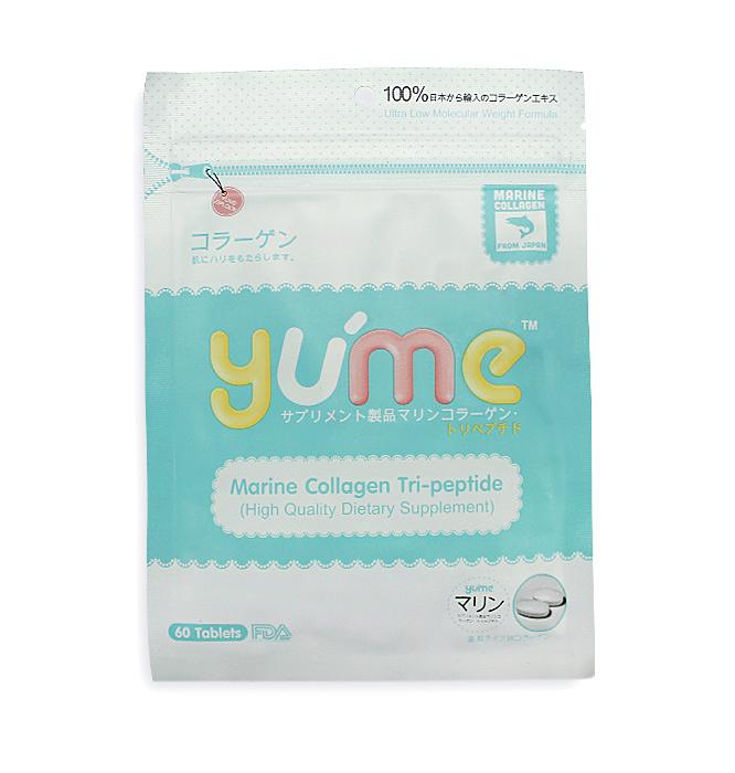 Yu'me Pure Marine Collagen Tri-peptide ยูเมะ เพียว คอลลาเจน ชนิดเม็ด