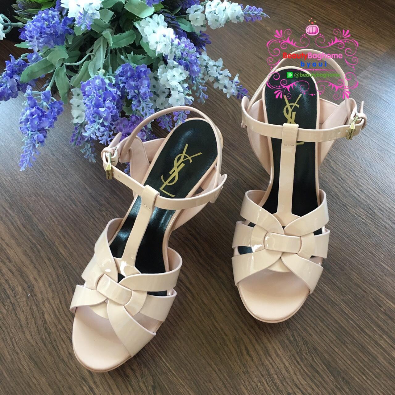 Yves Saint Laurent Tribute Sandal shoes สีชมพู Hiend 1:1