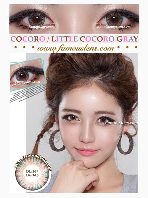 Cocoro Little Cocoro Gray คอนแทคเลนส์สีเทา พอดีตา ไม่บิ๊กอาย ขนาดเล็ก