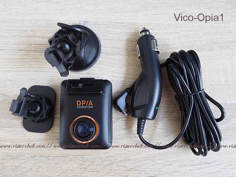 อุปกรณ์ในชุด สำหรับ กล้องติดรถยนต์ Vico-Opia1