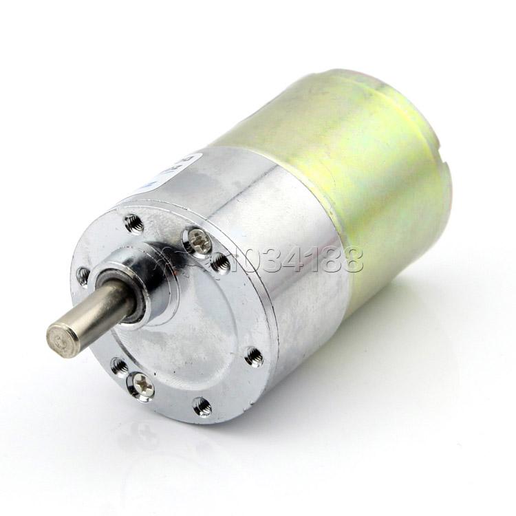 มอเตอร์เกียร์ แกนเยื้อง รุ่น37GB520R DC 12V:100R