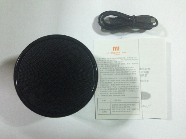 อุปกรณ์ภายในกล่อง ลำโพงบลูทูธ Xiaomi Round สีดำ