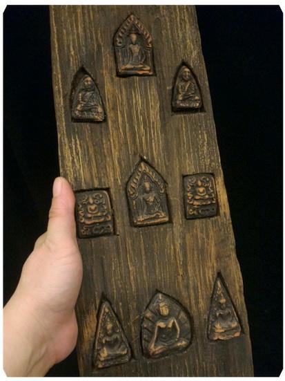 งานไม้แต่งบ้าน(แผงพระพิมพ์) ยาว 48 cm