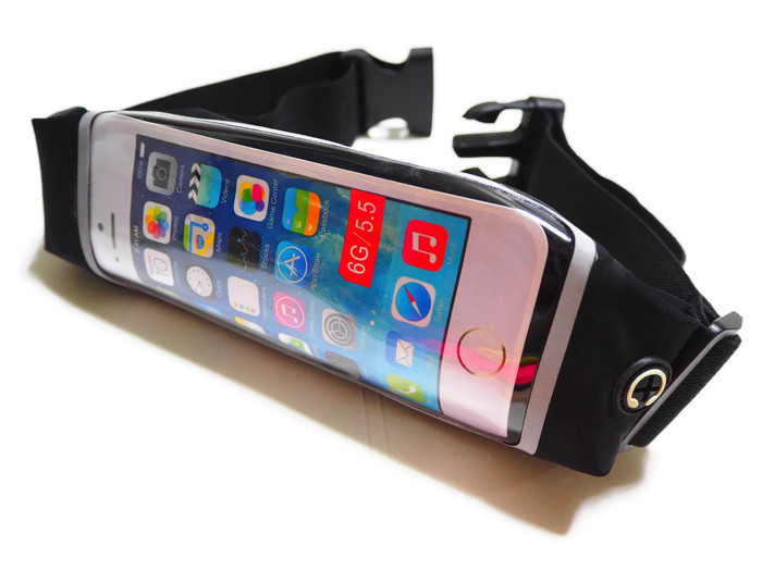 กระเป๋าคาดเอว จอ Touch Screen ขนาด 5.5 นิ้ว สีดำ