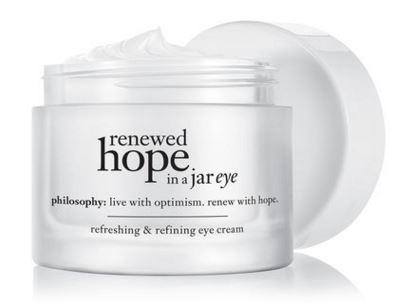 Philosophy renewed hope in a jar eye refreshing & refining eye cream [15ml][In Box] ครีมบำรุงรอบดวงตา สูตรพิเศษสำหรับผิวที่บอบบาง ผิวรอบดวงตามีความชุ่มชื้นต่อเนื่องยาวนาน ลดความหมองคล้ำ ลดอาการบวม และผิวรอบดวงตาดูเรียบเนียน ริ้วรอยลดลง