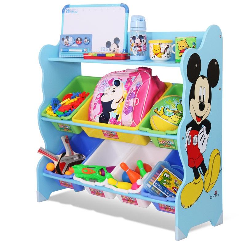 ชั้นวางของ ที่เก็บของเล่นเด็ก มิกกี้เมาส์ Mickey Mouse Keeping Toys สีฟ้า