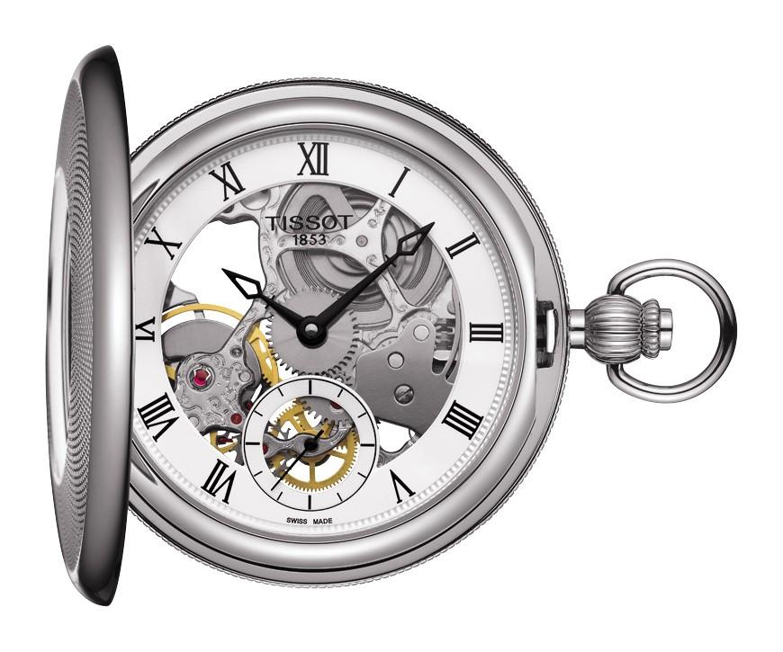 นาฬิกาพกพา Tissot รุ่น T8594051927300, Bridgeport Mechanical Skeleton T859.405.19.273.00