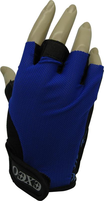 ถุงมือจักรยาน EXEO #CG-3001 สีน้ำเงิน/ดำ