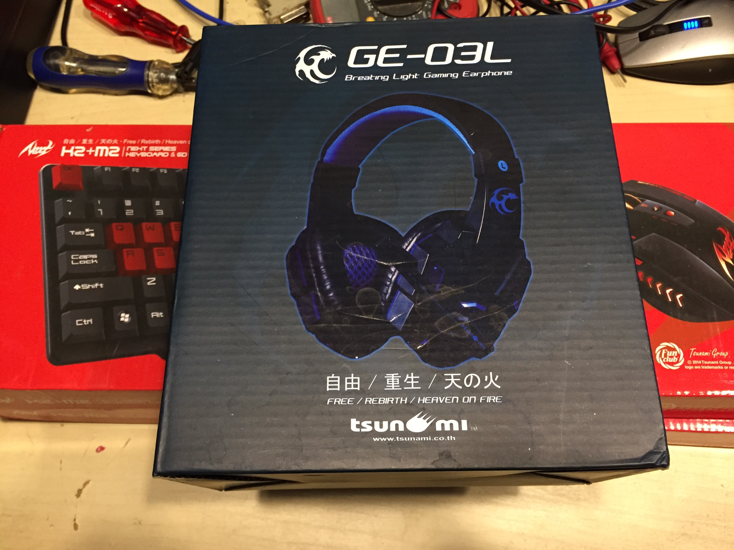 Tsunami Breathing Light Gaming HEADPHONE GE-03L