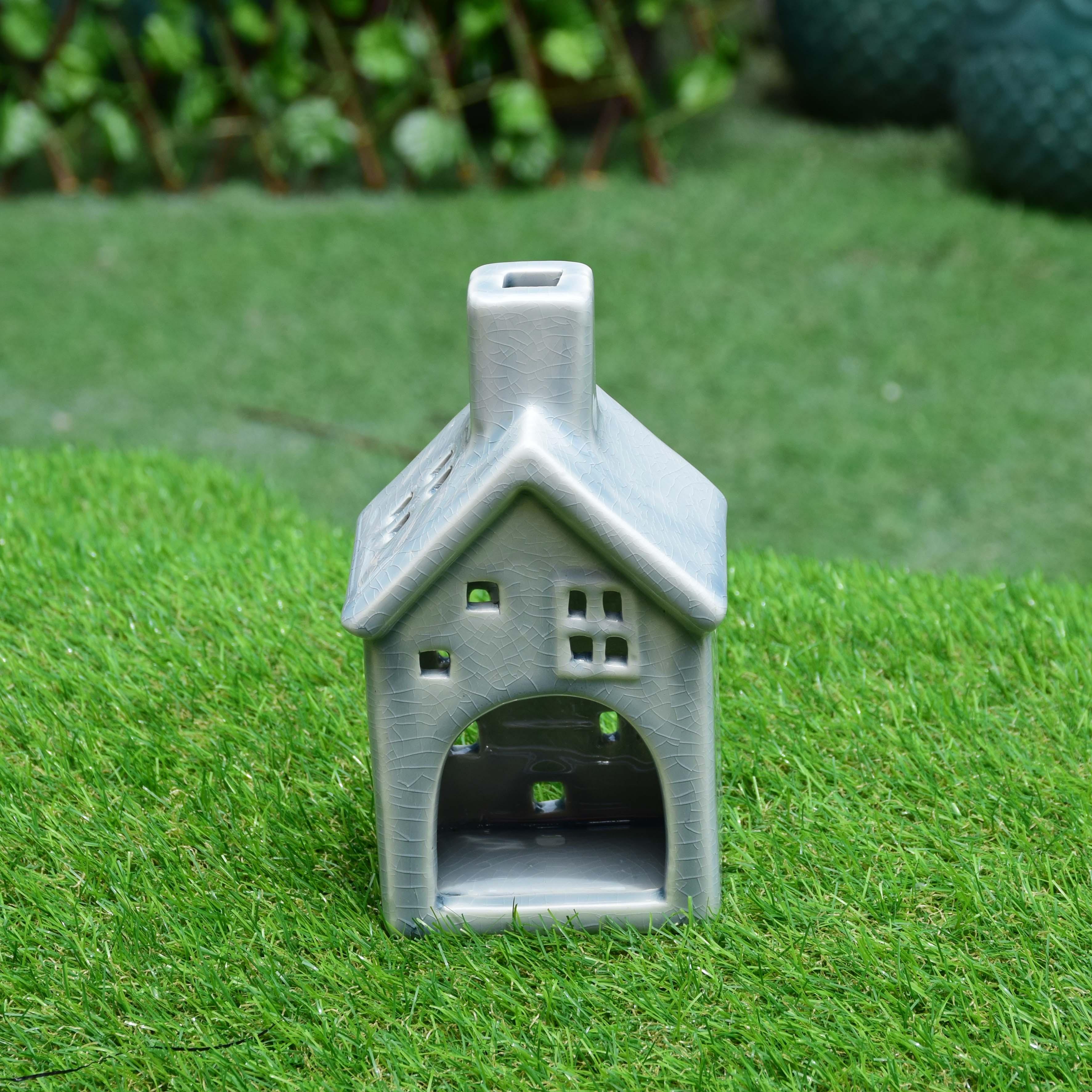 บ้านเทียนเซรามิค สีเขียวอ่อน