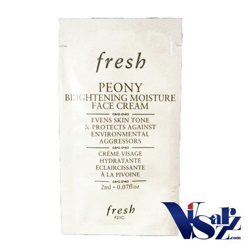 (Tester 2mLx 3ซอง= 6mL) Fresh Peony Brightening Moisture Face Cream ผลิตภัณฑ์บำรุงผิวที่รวบรวมหลากหลายประโยชน์ในหนึ่งเดียว ช่วยให้ผิวดูสว่าง กระจ่างใสขึ้น ให้ความชุ่มชื้นแก่ผิว และให้การปกป้องผิวจากมลภาวะอีกด้วย