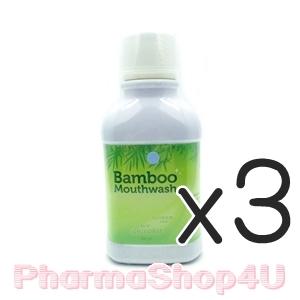 (ซื้อ3 ราคาพิเศษ) HyLife Bamboo Mouthwash 300ml ผลิตภัณฑ์น้ำยาบ้วนปากจากสารสกัดของต้นไผ่ สูตรปราศจากส่วนผสมของแอลกอฮอล์