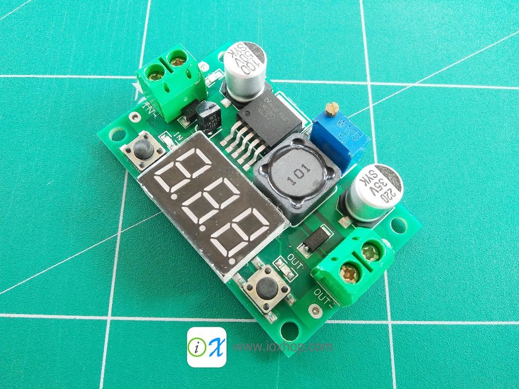 LM2596 DC 4-40V to 1.3-37V Adjustable Step-Down Module with LED Voltmeter